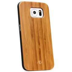 [WOW] Original Urcover® Samsung Galaxy S6 Echtholz Schutz Hülle Backcover Backcase Galaxy S 6 Case Cover Bumper Rahmen Tasche Etui echt Holz Hülle Hell Braun 14,90€