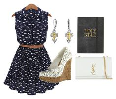 """""""Church Day"""" by djg-87 ❤ liked on Polyvore featuring Yves Saint Laurent and Bling Jewelry"""