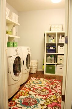 Well, I have been scouring the internet looking for beautiful laundry rooms to help me with ideas for my sister's laundry room makeover.   Here is a great laundry room makeover by Jennifer from Blissfully Ever After. I love the way she just took off the middle cabinet door to create a whole new […]