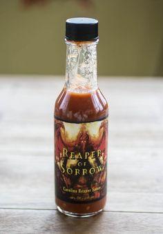 Reaper of Sorrow Carolina Reaper Hot Sauce by Born to Hula
