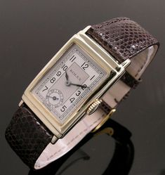 A gold rectangular stepped case vintage Rolex watch, 1937 Fine Watches, Cool Watches, Watches For Men, Wrist Watches, Elegant Watches, Stylish Watches, Beautiful Watches, Luxury Watches, Magick