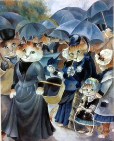 """Umbrellas (Auguste Renoir)"" par Susan Herbert"
