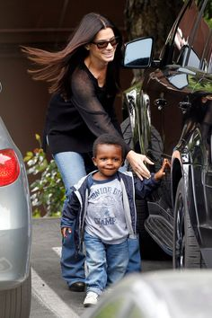Sandra Bullock E Louis, Sandy the best actress and mother Sandra Bull...