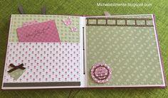 Album scrapbooking baby femmina- http://michelabilmente.blogspot.com Album scrapbooking baby female, girl