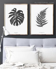 @ oliveetoriel - Our black Monstera   Fern posters...A picture perfect pair for anyone with a love of flora or Scandinavian style!