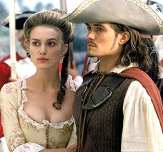 """In 2003, Keira Knightley and Orlando Bloom starred in """"Pirates of the Caribbean:  The Curse of the Black Pearl"""""""