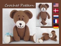This Listing is for the PDF crochet PATTERN and NOT the actual toy.  The pattern will be e-mailed to you as a PDF file within 24 hours of your payment  Pattern is written in ENGLISH (in US terms),...@ artfire