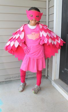 no sew, pj masks costume owlet, diy halloween costume