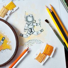 Cross stitch Pattern.  The Martian.