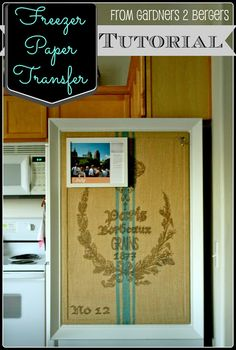 Freezer Paper Transfer [Tutorial]  Use freezer paper to transfer print to fabric! via from Gardners 2 Bergers