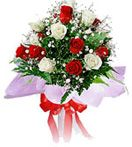 Send 12 Red n White Roses Bouquet to your friend from our website : http://giftschennai.com/New-Years-Gifts-to-Chennai.php