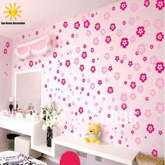 108 Flowers & 6 Butterfly DIY Removable Wall Sticker Decals