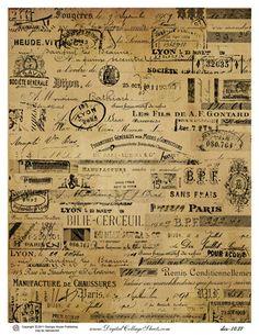 collage paper - vintage french ephemera