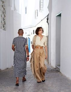 Ines de la Fressange Enjoys Tangiers In David Cohen de Lara Images For Elle France Aug 4-10, 2017 — Anne of Carversville