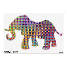 Psychedelia Elephant Wall Decal