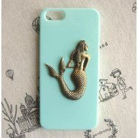 Steampunk Mermaid hard case For Apple iPhone 5 case cover