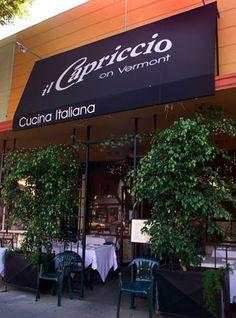Il Capriccio Italian restaurant in Los Feliz
