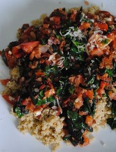 Quinoa with Swiss Chard, Garlic & Tomatoes | My Halal Kitchen | Inspiration for wholesome living, with simple recipes and useful household tips | quick recipes, vegetarian, vegan, gluten-free, food photography, food industry