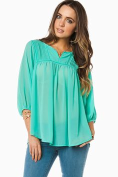 ShopSosie Style : Thania Blouse in Mint