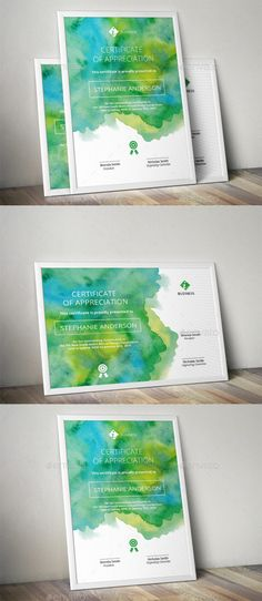 Watercolor Corporate Certificate Template — AI Template #ai templates…