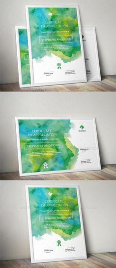 Watercolor Corporate Certificate Template — AI Template #ai templates…