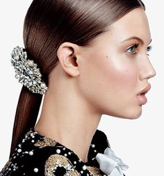 vogue: From a decorative ponytail to a slick evening fresh hair ideas to try this weekend.Photographed by Sharif Hamza, Vogue, March 2013 Best Drugstore Face Moisturizer, Vogue Beauty, Sleek Ponytail, Braided Ponytail, Fresh Hair, Party Hairstyles, Sleek Hairstyles, Poses, Beauty Editorial