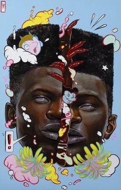 Black Artwork, Brown Art, Popular Art, Black Girl Art, Afro Art, Portrait Art, Portraits, Jelsa, Art Inspo