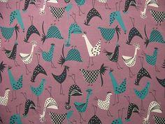 plaid chickens!! vintage fabric