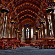 are you kidding me? this gorgeous thing is a library?! at University of Washington in Seattle.