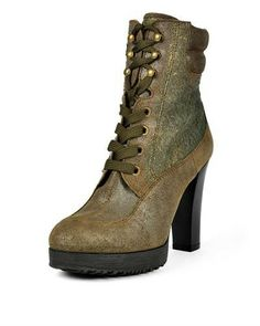 Hogan Leather Scuffed Effect Booties - Booties - Shoes at Viomart.com