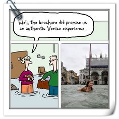 Travelers humor about vacationing to Venice, Italy. Funny Travel, Travel Humor, Hump Day Humor, Venice Italy, Vacation, Baseball Cards, Comics, Vacations, Holidays Music