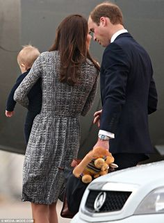 The Duke and Duchess shared a quiet word while on the tarmac