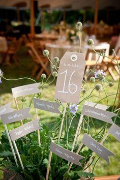 Numeración de mesas 2015: detalles chic para una boda con mucho estilo [Fotos]