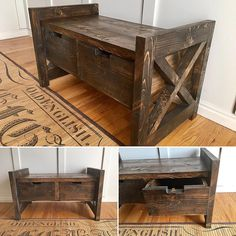Farmhouse Storage Bench built by Jami Ray Vintage