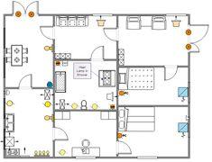 sample kitchen electrical plan