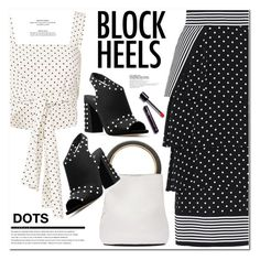 """BLOCK HEELS"" by nanawidia ❤ liked on Polyvore featuring STELLA McCARTNEY, Alexis, Marni, MICHAEL Michael Kors, Arche, PolkaDots, blockheels, polyvoreeditorial and polyvorecontest"