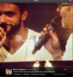 Marco Mengoni e Giulio Golia insieme sul palco del cinema di Melzo