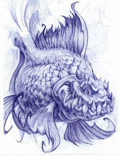 Will Ralston is a Sarasota based artist specializing in custom illustration. He tattoos at Oddity Tattoo Studio & Gallery. Monster Fishing, Desenho Tattoo, Tattoo Studio, Art Drawings, Walls, Posters, Tattoos, Illustration, Artist
