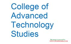 Indian mba colleges fees - Get complete information about MBA fee details in COLLEGE OF ADVANCED TECHNOLOGY STUDIES @ http://www.coursesmba.com/