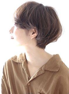 丸顔でも面長でも似合う ショートボブ(髪型ショートヘア)