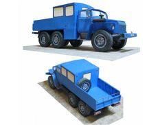 Ural 325512 0010 41 Truck Free Vehicle Paper Model Download