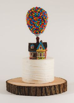 Pixar's UP House Cake Topper by TinyPlaidSheep on Etsy