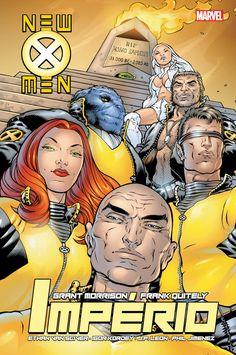 Novos X-Men - Livro Dois: Império de Grant Morrison e ilustração por Frank Quitely. Lançamento banda desenhada por G Floy Studio - Portugal em português, outubro 2020. #bandadesenhada #novosxmen #bdleakspt