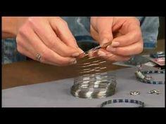 Katie Hacker uses Tila beads to create memory wire bracelets