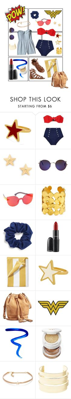 """Wonder of a Weekend"" by marianne-donley ❤ liked on Polyvore featuring George & Laurel, Lisa Marie Fernandez, Rebecca Minkoff, Quay, RetroSuperFuture, Current/Elliott, Kenneth Jay Lane, Natasha, MAC Cosmetics and Serena & Lily"