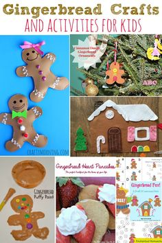Gingerbread Crafts and Activities for Kids! From crafts, art projects, stories, and ornaments- so many perfect ideas using this fun holiday theme! Christmas Activities For Kids, Preschool Christmas, Toddler Christmas, Preschool Activities, Santa Crafts, Holiday Crafts, Holiday Fun, Holiday Themes, 3d Christmas