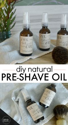 DIY Natural Pre-Shave Oil Recipe that helps prevent ingrown hairs, shaving rash or irritation, and soothes and nourishes the skin. Ingrown Hair Armpit, Ingrown Hair Remedies, Ingrown Hair Removal, Prevent Ingrown Hairs, Diy Ingrown Hair Serum, Shaving Oil, Shaving Cream, Natural Coconut Oil, Natural Oil