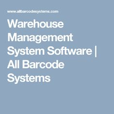 Warehouse Management System Software | All Barcode Systems