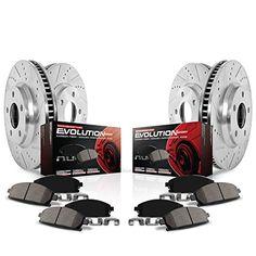 Power Stop (K6373) Z23 Evolution Sport Brake Kit, Front and Rear. For product info go to:  https://www.caraccessoriesonlinemarket.com/power-stop-k6373-z23-evolution-sport-brake-kit-front-and-rear/
