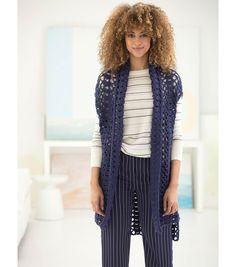 Crochet A Hi-Low Vest
